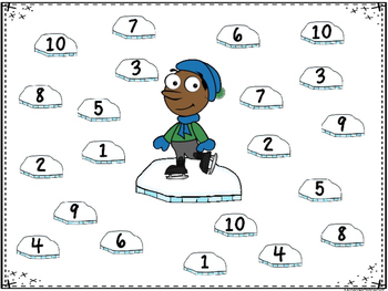 Ice Skating Match Up -A Ten Frame Number Recognition Game