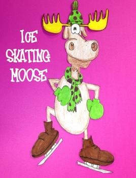 Ice Skating Moose