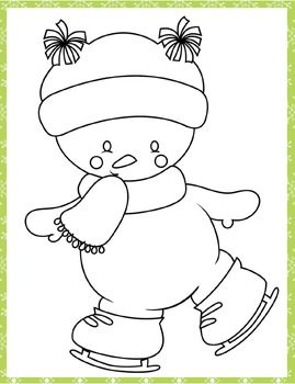 Ice Skating Notebooking and Coloring Pages