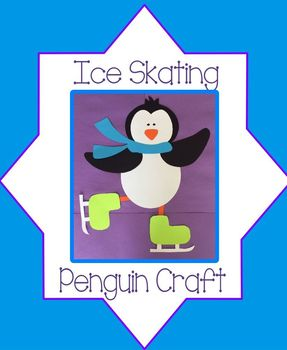 Ice Skating Penguin Craft