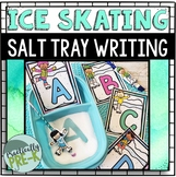 Ice Skating Themed Salt Tray Writing Task Cards