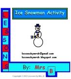 Ice Snowman Activity