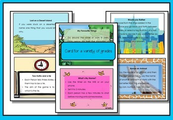 Ice breaker cards- ideal for Behavior Management