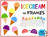 Ice cream Themed 10 frames Numbers 1-20 (Inspired by mini erasers!)