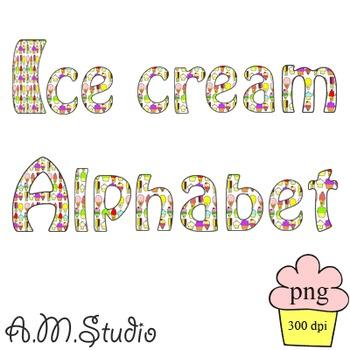 Ice cream Alphabet and Numbers.