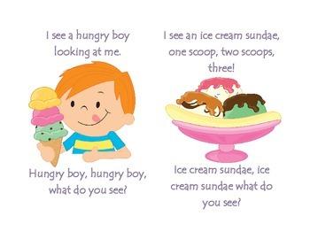 Ice cream, Ice cream, what do you see?