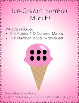 Ice-cream Number Match