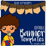 Ice cream Summer Banner - Pennant Power Point Editable Template