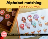 Ice-cream alphabet matching printable - Preschool learning