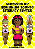 Ice cream beginning sounds & capital to lowercase matching literacy center