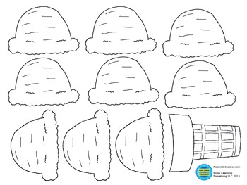 photo about Printable Ice Cream Scoops titled Ice Product Cone Scoop Worksheets Education Elements TpT