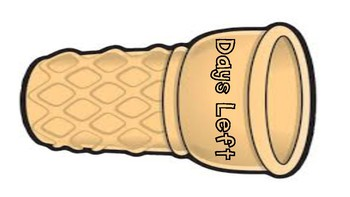 Ice-cream countdown to the LAST DAY OF SCHOOL