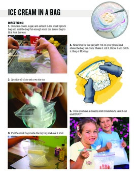Ice cream in a bag recipe for students with Autism