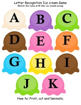 Ice Cream Letter Recognition Game By