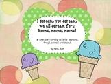 {Ice cream noun sort} Animals, Things, People, Places