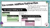 Ice-cream themed addition/subtraction to 20 (Google Slides)
