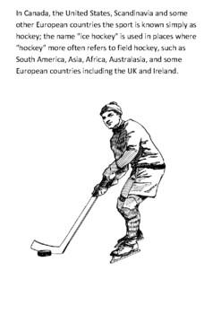 Ice hockey Handout