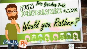 """IceBreaker Game """"Would You Rather...?"""""""