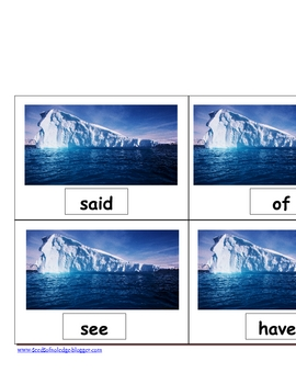 Iceberg Sight Word Hop