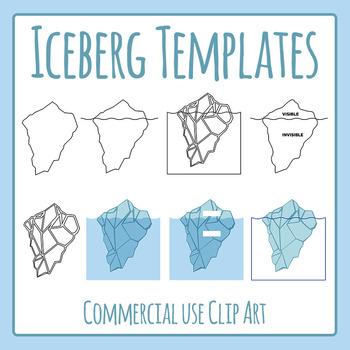 Iceberg Template Clip Art Set for Commercial Use
