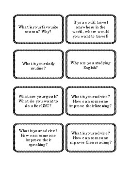 Icebreaker Activity - Conversation Cards for LINC