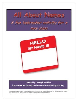 Icebreaker: All About Names