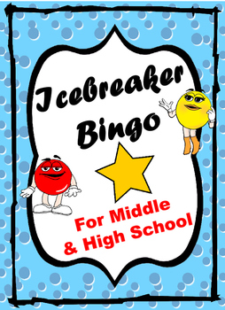 Icebreaker BINGO for Middle and High School