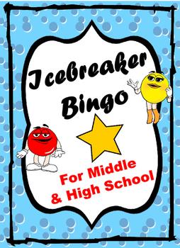 Icebreaker BINGO for Middle and High School