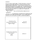 Icebreaker Calculus Review of Precalculus Matching Cards