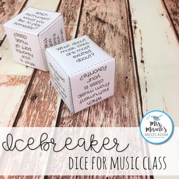 Icebreaker Dice for Music Class {Freebie}