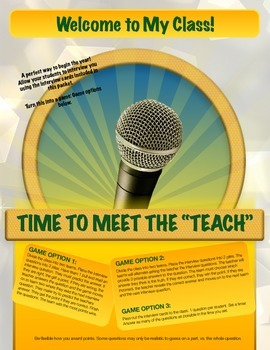 """Icebreaker Game: Time to Meet the """"Teach"""""""