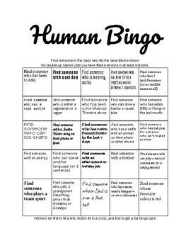 Icebreaker - Human Bingo Game