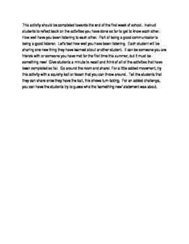 My top 6 Icebreaker Ideas!