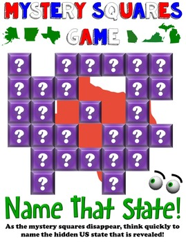 Icebreaker - Name That U.S. State! Mystery Squares Game