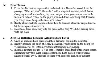 "Icebreaker, teambuilding activity: ""Tattoo You"""