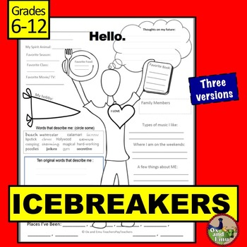 Icebreakers for Middle and High School