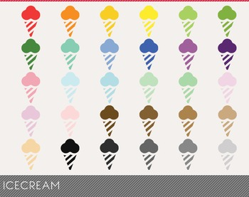 Icecream Digital Clipart, Icecream Graphics, Icecream PNG
