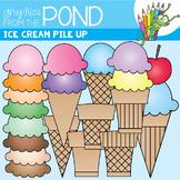 Ice Cream Pile Up Clip Art Set