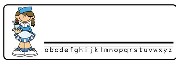 Icecream Theme Desk Nameplates (Set of Four)