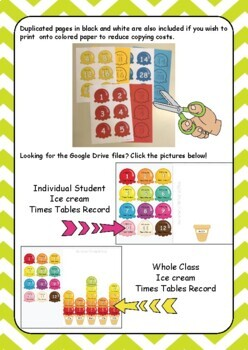 Ice Cream Times Tables