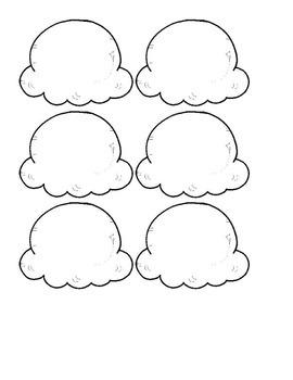 Icecream activity Learn simple fractions. Fraction Craft Activity Bulletin Board