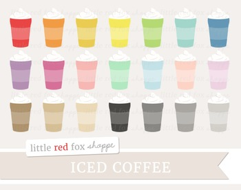 Iced Coffee Clipart; Latte, Frappe