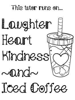Iced Coffee Decor Posters Tutor, Admin, Nurse, Counselor