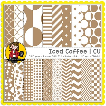 Iced Coffee Digital Papers {CU}