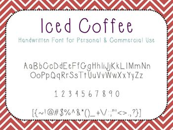 Iced Coffee - FREE Font for Personal and Commercial Use
