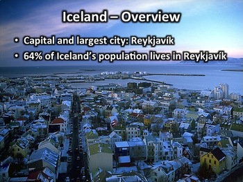 Iceland Powerpoint - Geography, History, Government, Economy, & Culture