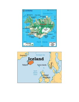 Iceland Map Scavenger Hunt