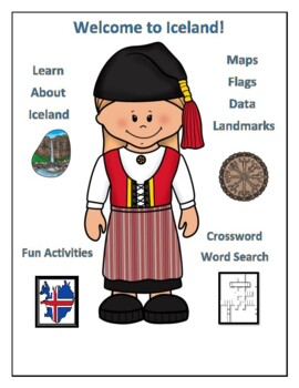 Iceland Geography Maps, Flag, Assessment - Map Skills and Data Analysis