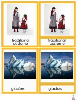 Iceland Montessori 3-part Cards