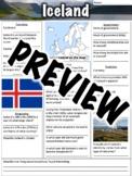 Iceland Worksheet